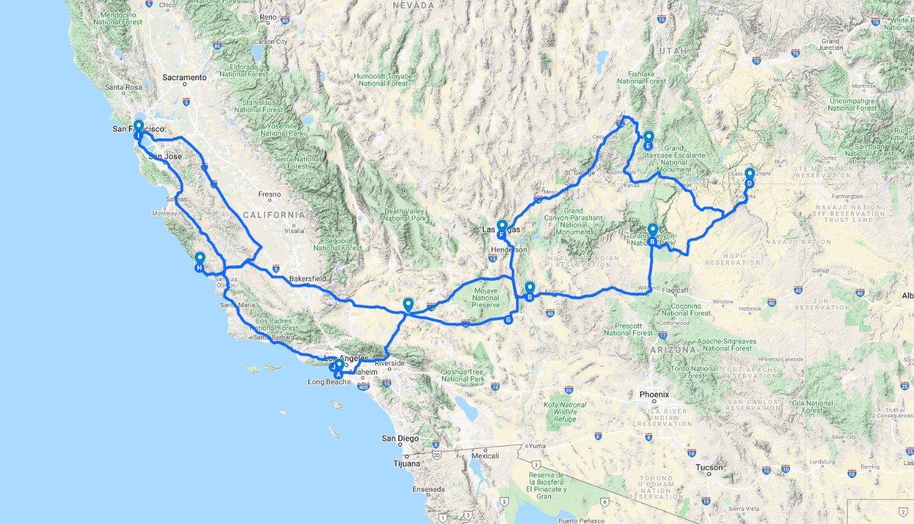 Süd-Westen der USA – Busreise 2021